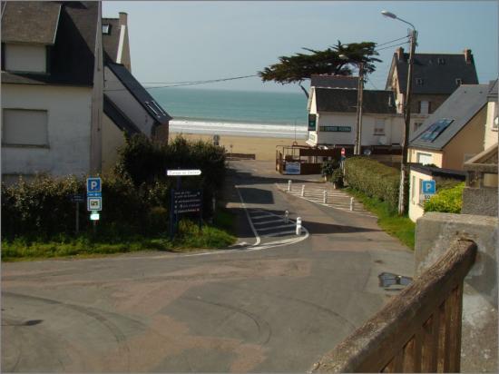 accès directe à la plage